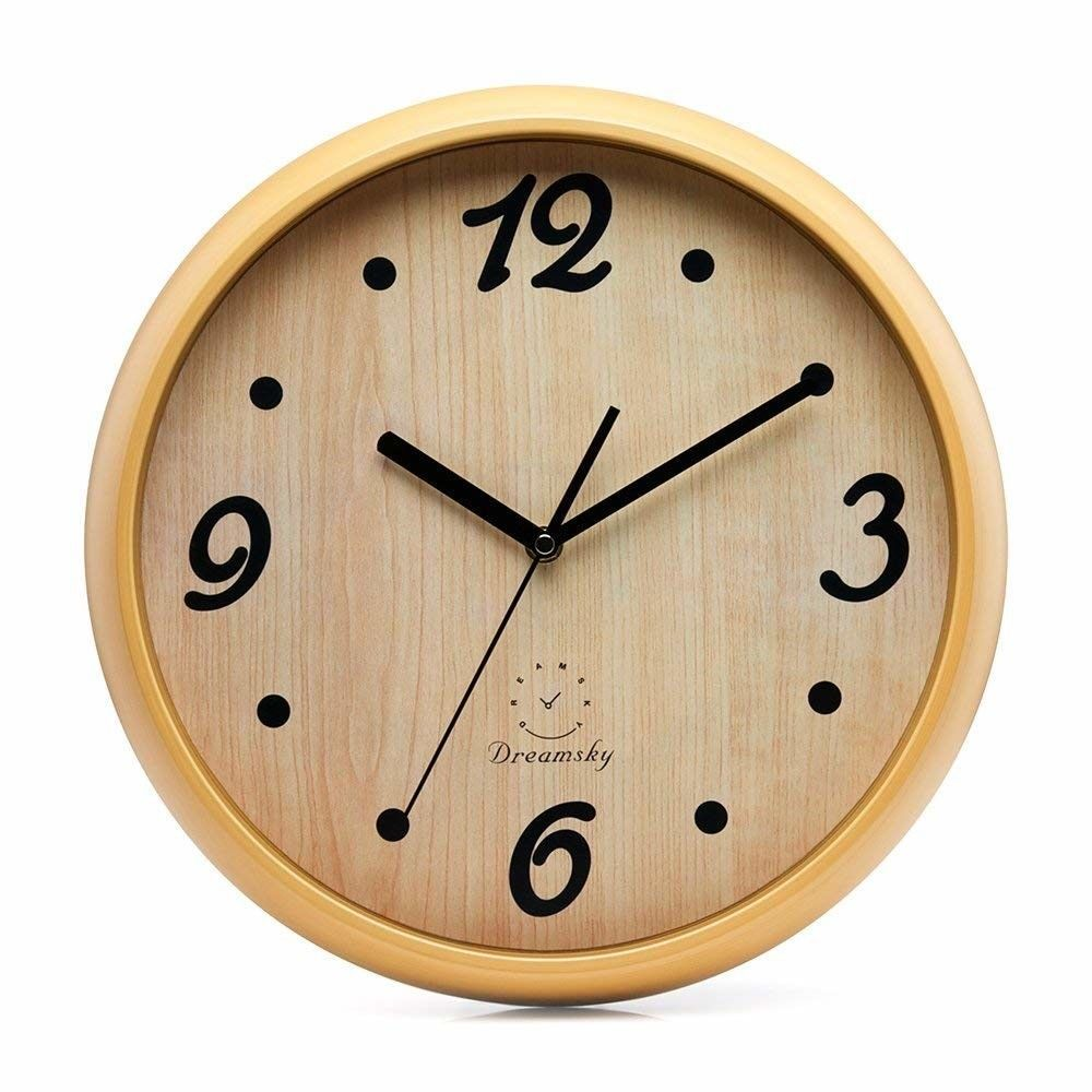 Details About Modern Wall Clock 12inch Silent Non Ticking Sweep