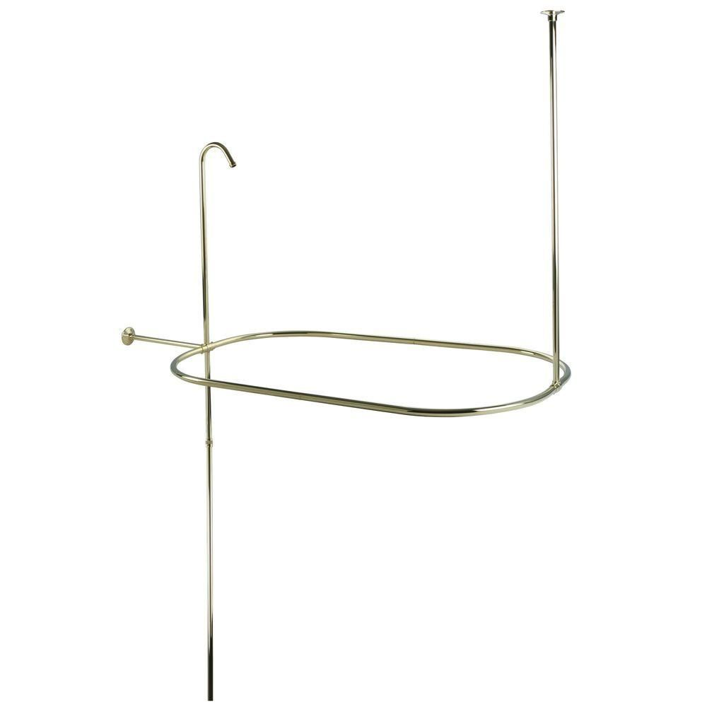 Kingston brass vintage clawfoot in x in side mount shower