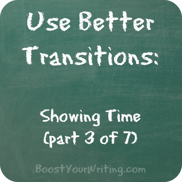 transitional phrases for showing time