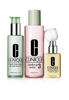Clinique 3 Step Skin Type 3 Combination Oily Skin Care System Clinique Skincare Combination Oily Skin
