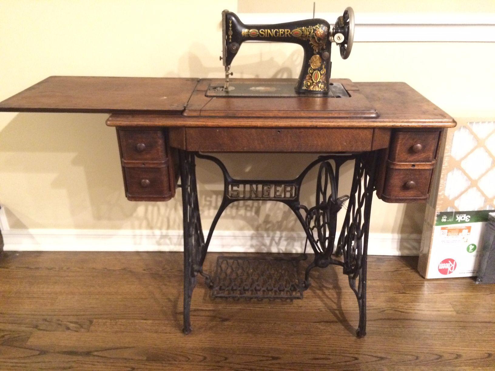 Vintage Singer Sewing Machine Table Craigslist Dining Room