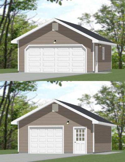 20x28 2 Car Garage 20x28g5a 560 Sq Ft Excellent Floor Plans Garage Plans Detached Garage Design Garage Plans