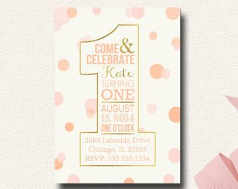 1st birthday blush and gold - Google Search