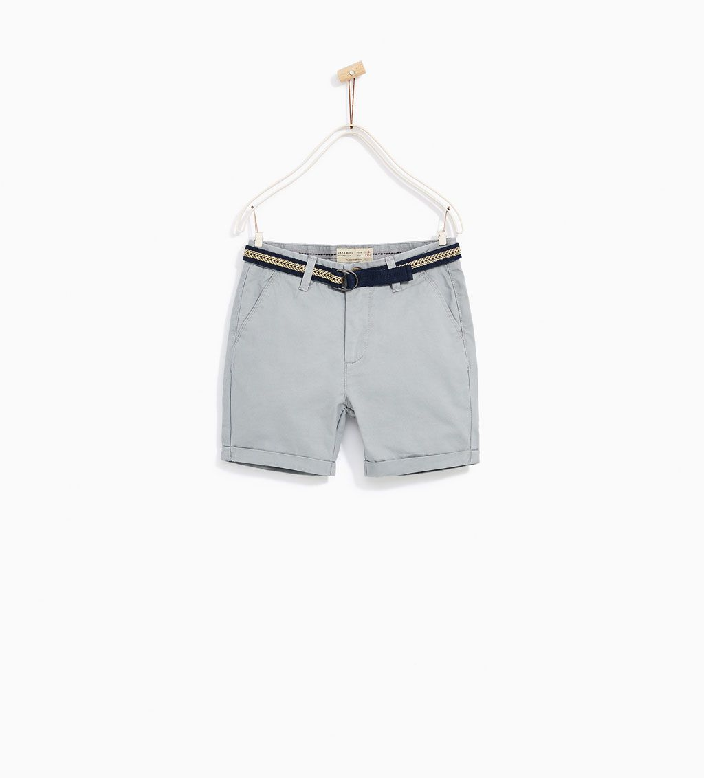 BASIC CHINO BERMUDA SHORTS-SHORTS-BOY | 4-14 years-KIDS | ZARA United States