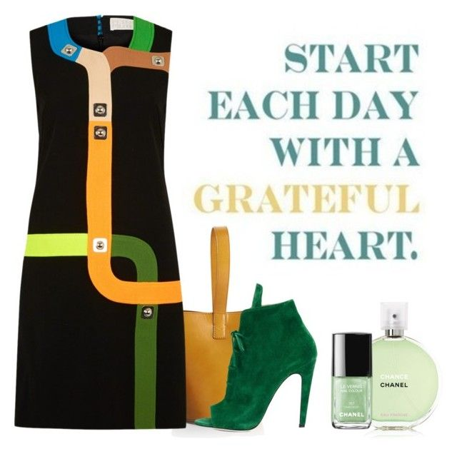 """Start Each Day With A Grateful Heart ...."" by conch-lady ❤ liked on Polyvore featuring mode, J.W. Anderson, Peter Pilotto, Off-White et Chanel"