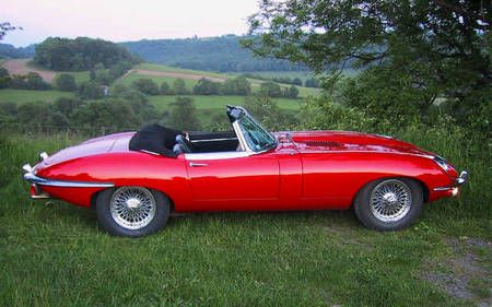 Signal Red Jaguar E Type Convertible A Thing Of Beauty