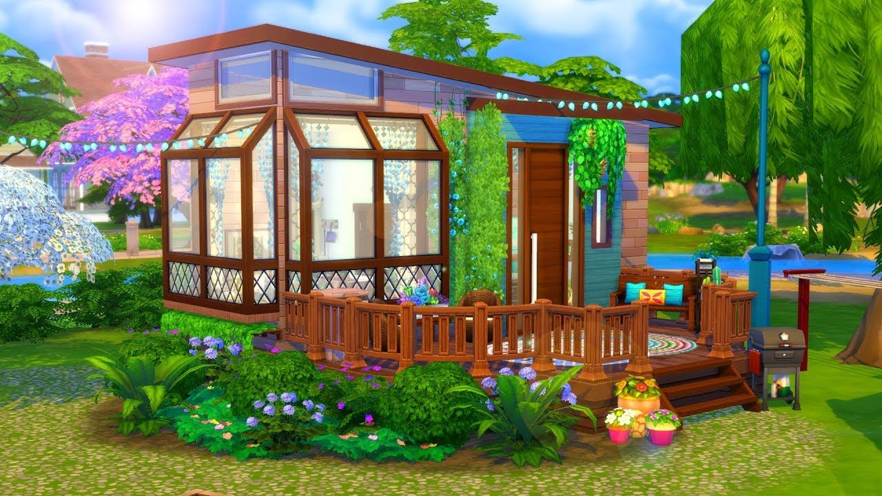 Hippie Tiny House // Sims 24 Speed Build  Sims house design, Sims
