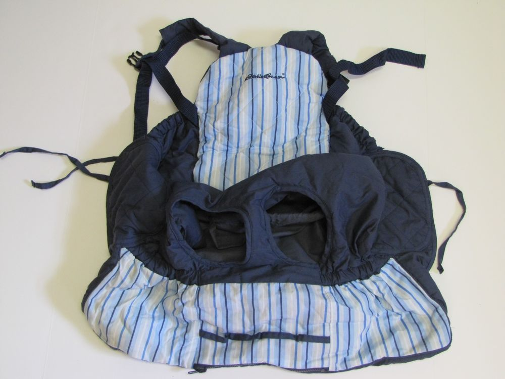 EDDIE BAUER BABY Seat Shopping Cart & High Chair Cover Blue Striped #EddieBauer