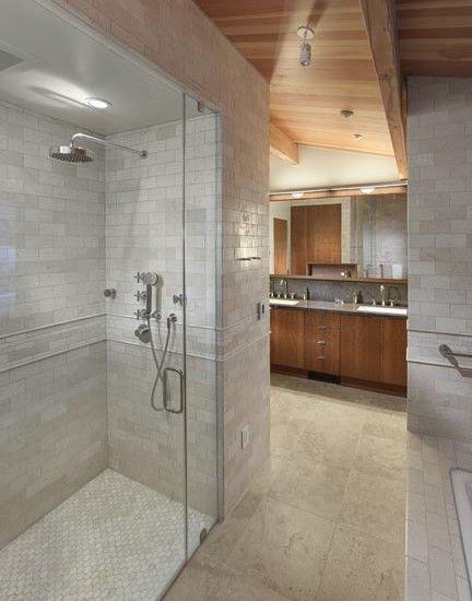 Modern Master Bath With Cedar Ceiling Http Seattletimes Com Html Pacificnw 2023051870 Mid Century Modern Bathroom Bathroom Design Wood Modern Bathroom Design