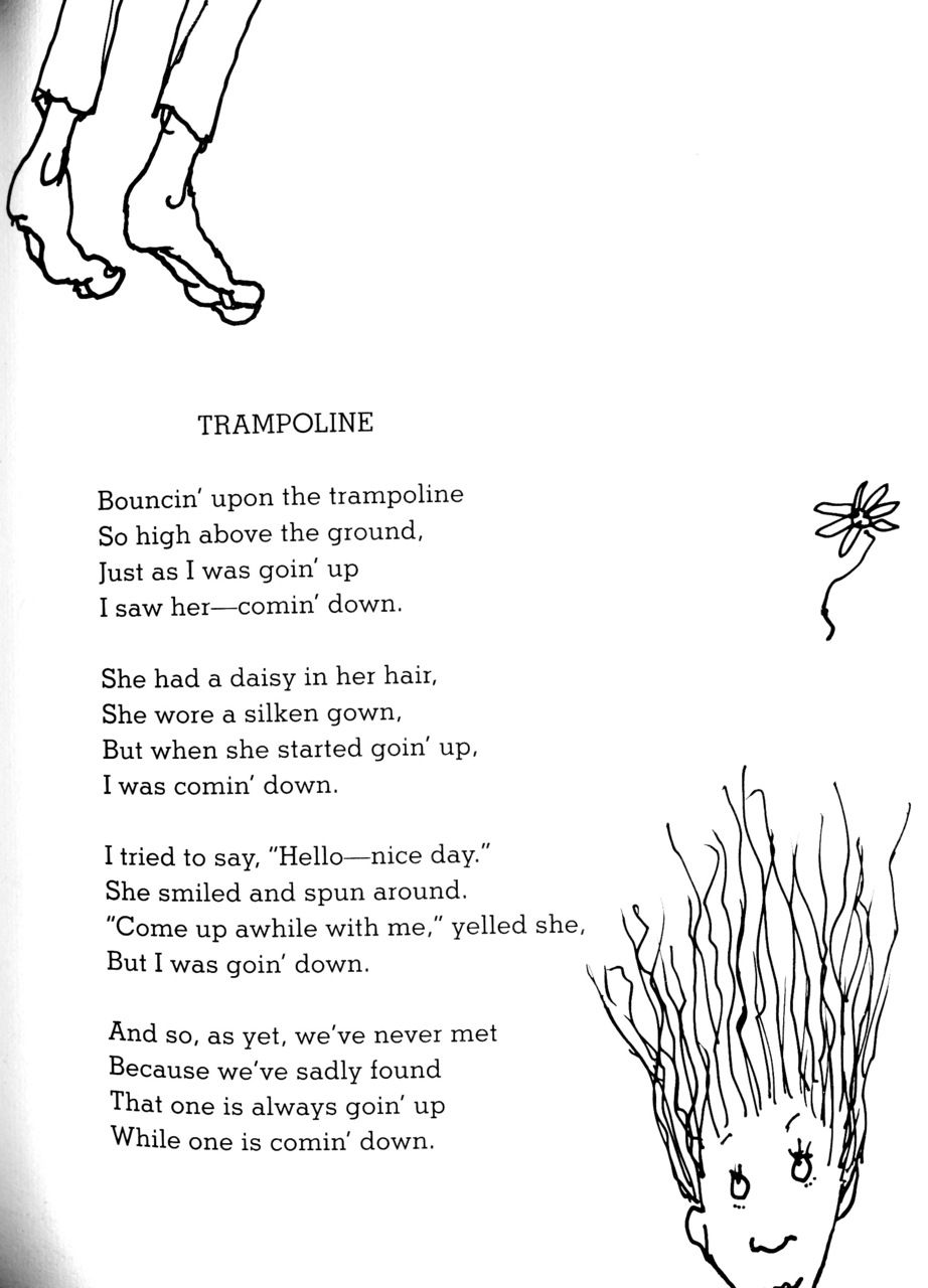 Shel Silverstein Trampoline We All Have This Person In Our Lives