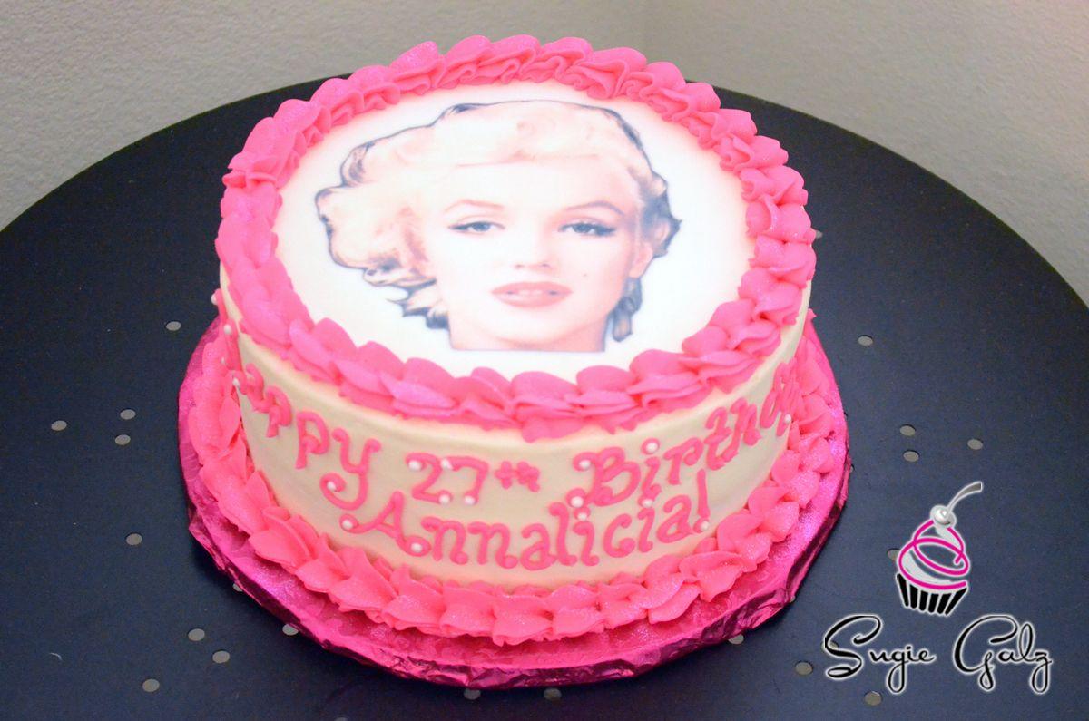 Pink Marilyn Monroe Birthday Cake in Austin Texas by Sugie Galz