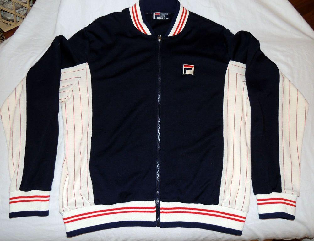 fila tracksuit. vintage-fila-white line-xxl-tracksuit top-80\u0027s-jacket- fila tracksuit r