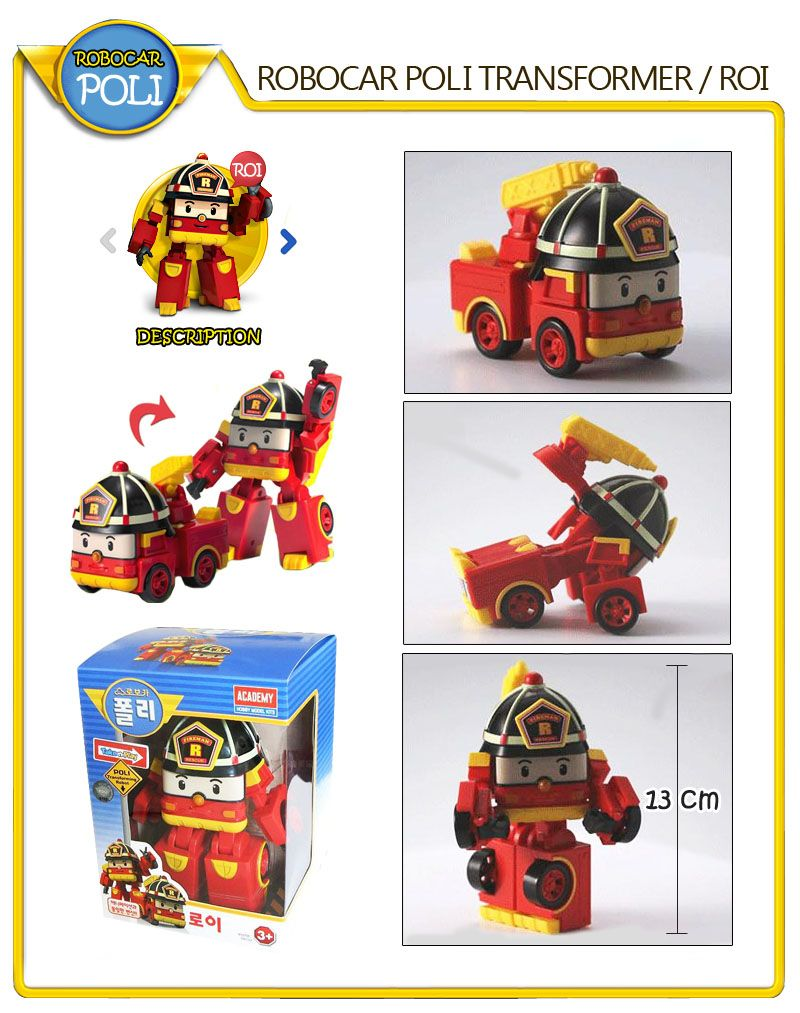 4pcs Academy Robocar Poli Poli Helli Amber Roi Transformer Robot Toy | eBay