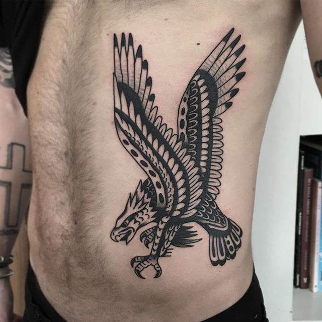 Really Fun Belly Eagle Thanks For Looking Done Bunkertattoo Bunkertattoo Tattoos For Guys Traditional Tattoo Eagle Tattoos