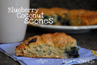 Blueberry Coconut Scones « Inside BruCrew Life