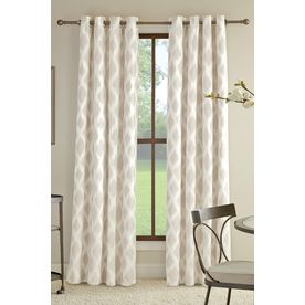 Allen Roth Bookner 95 In Neutral Cotton Grommet Light Filtering Sing Grommet Curtains Panel Curtains Curtains