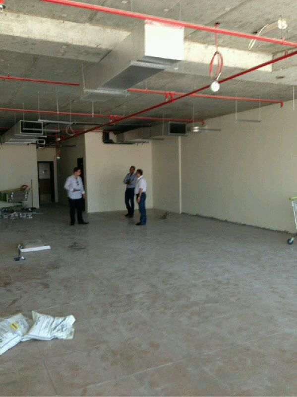 flat office floor at the construction