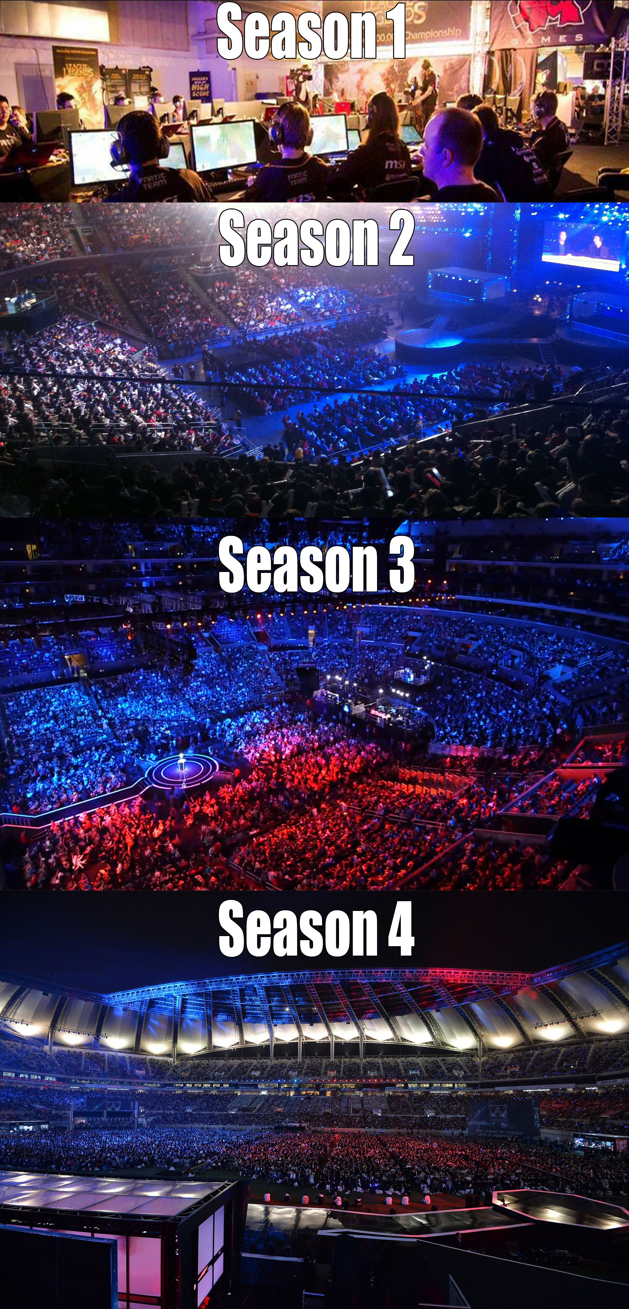 Great Picture Showing How The Level Of Interest In E Sports Has Grown Exponentially In Such A Short Time E Sports Are League Of Legends Lol League Of Legends