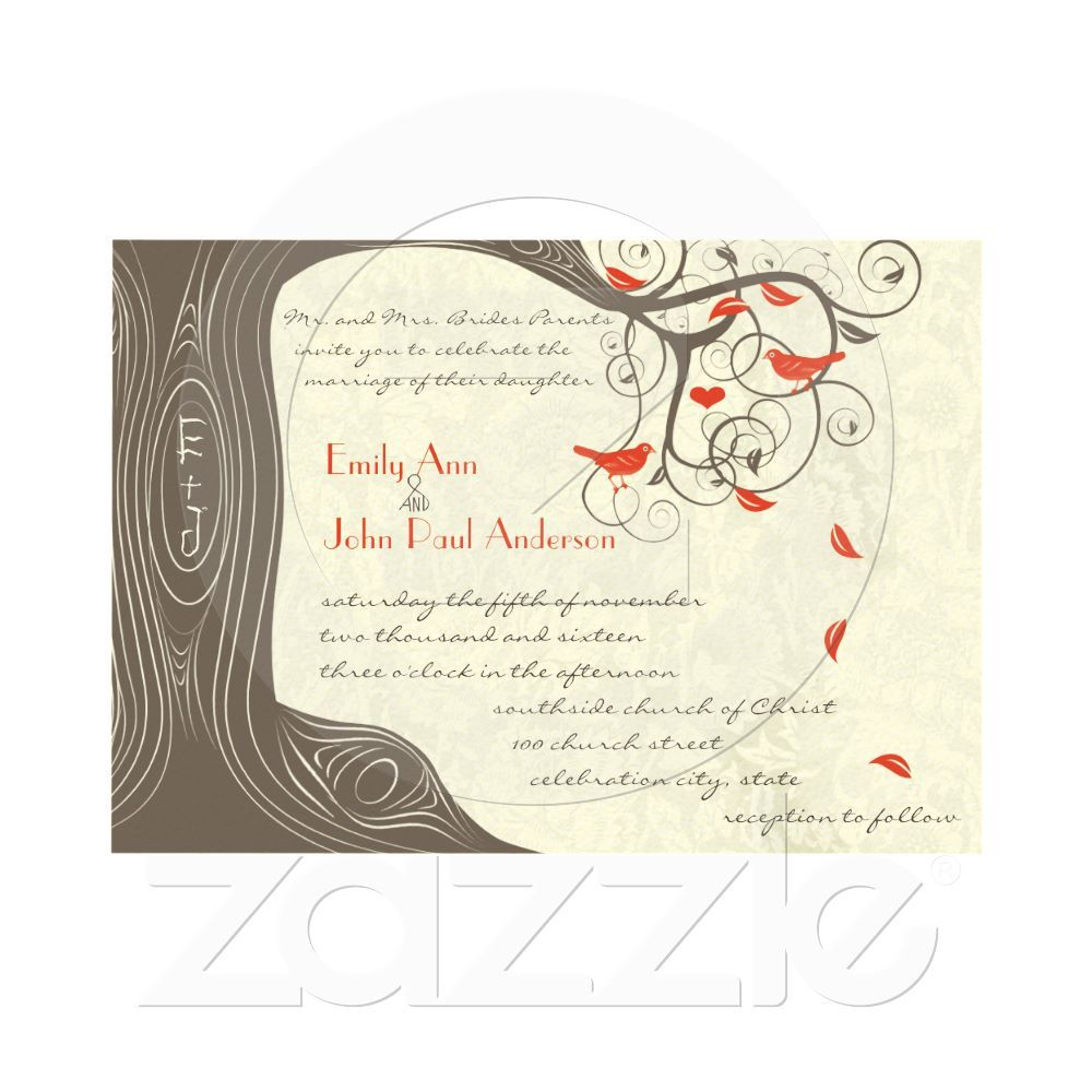Invites - minus the birds and with a heart around the initials! Cute! @Lindsay Siovaila