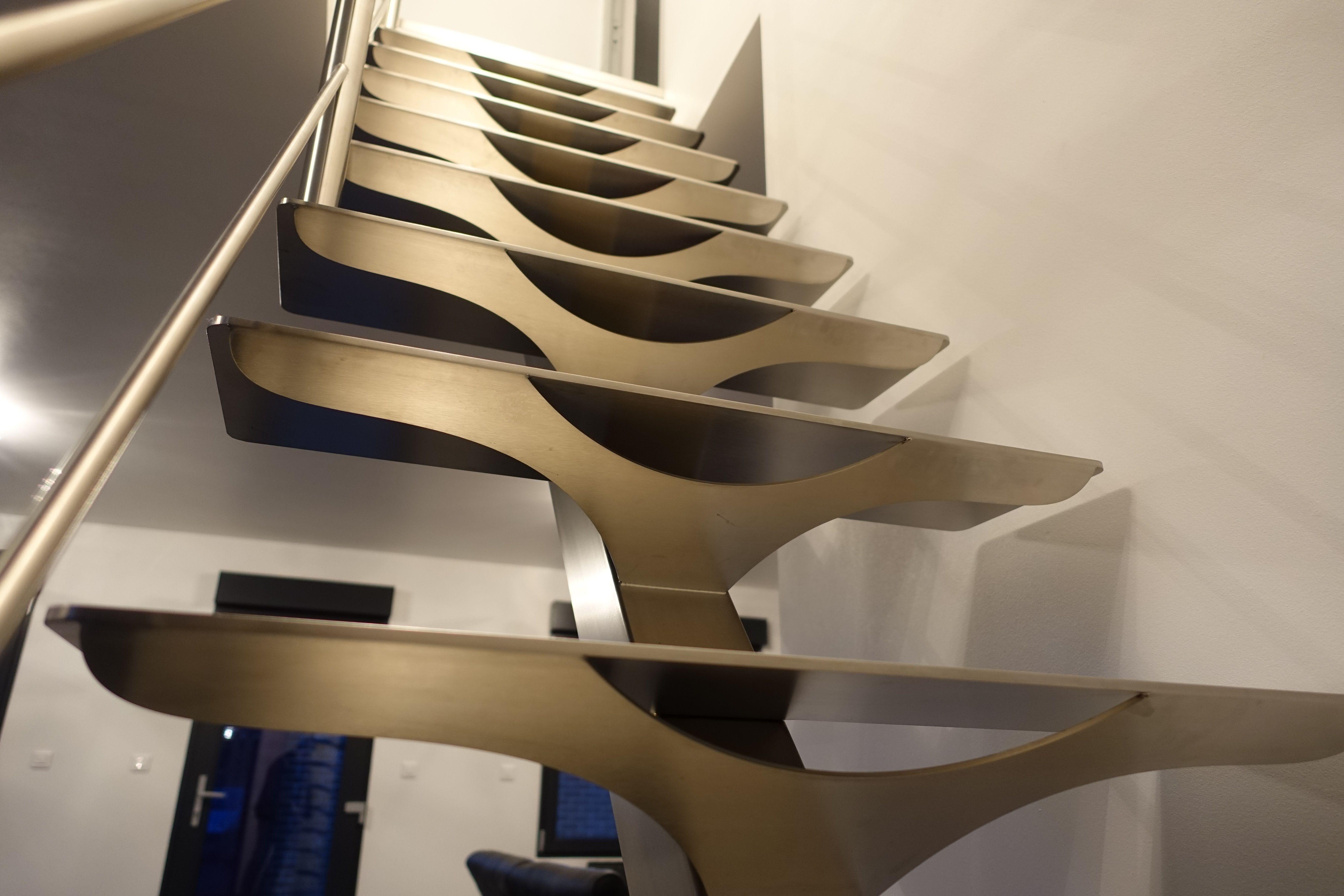 escalier moderne design tout inox brossé, Nord pas de Calais ...