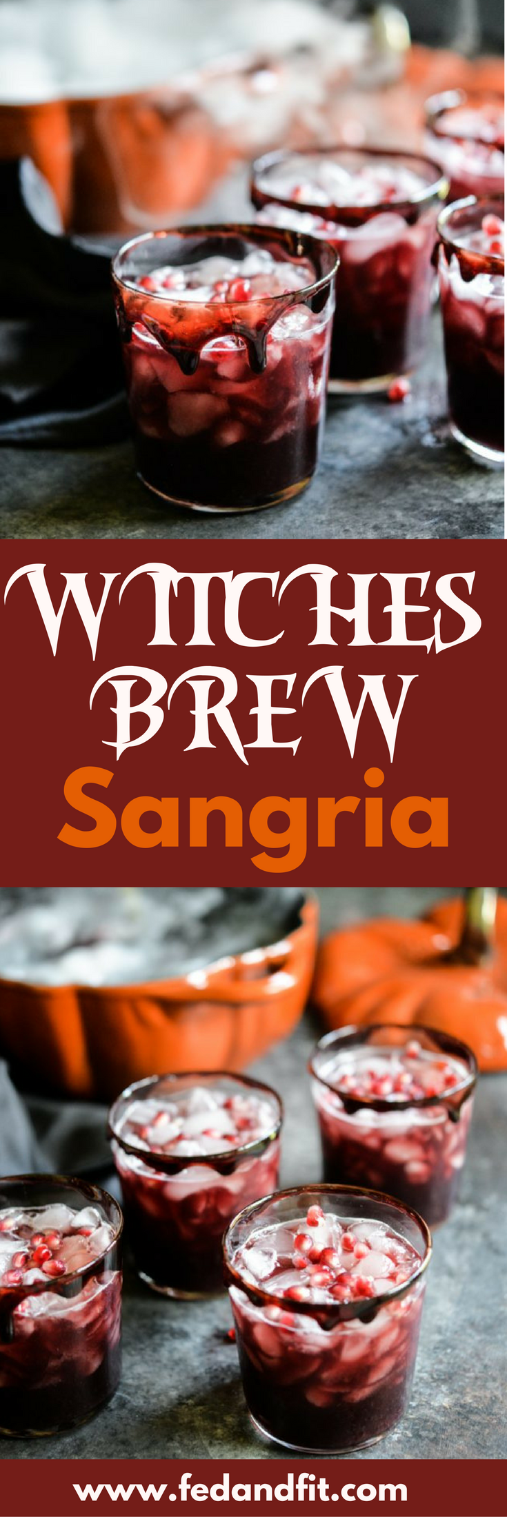 Witches' Brew Black Sangria Recipe Adult halloween