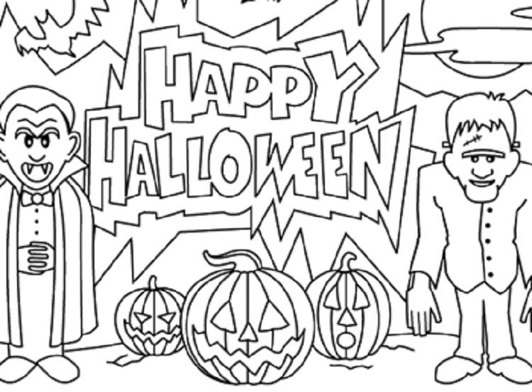 Scary Halloween Coloring Pages Coloring Pages For Kids With