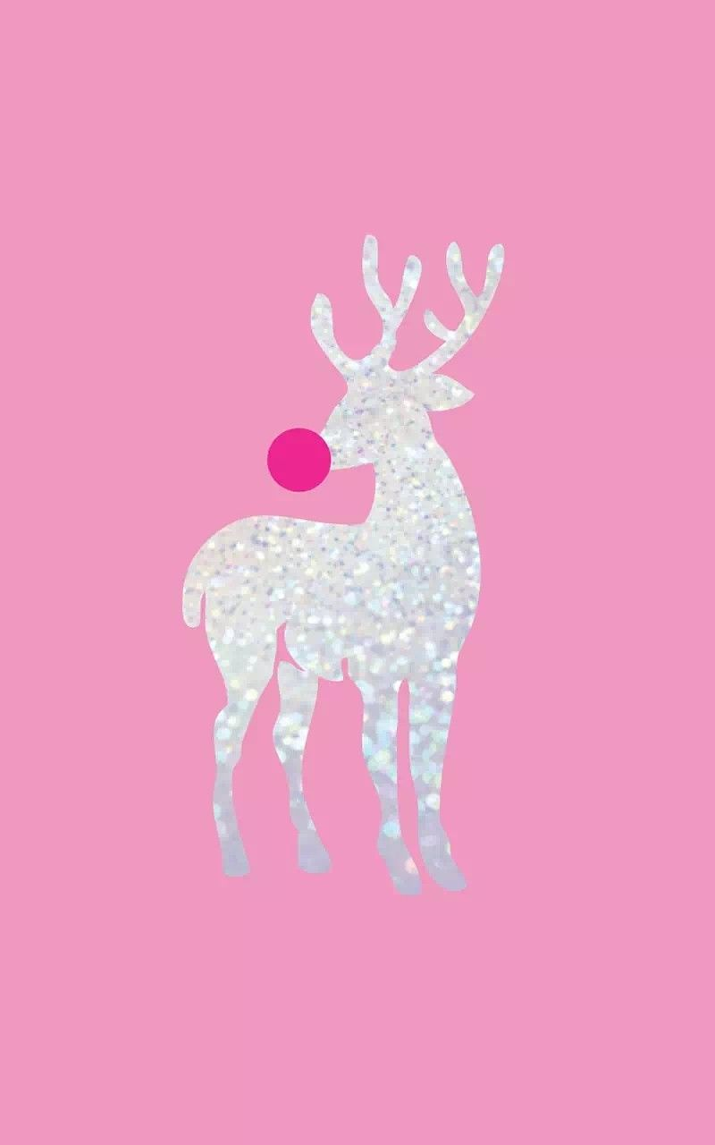Reindeer Phone Wallpaper With Pink Background Christmas Phone Wallpaper Christmas Wallpapers Tumblr Wallpaper Iphone Christmas