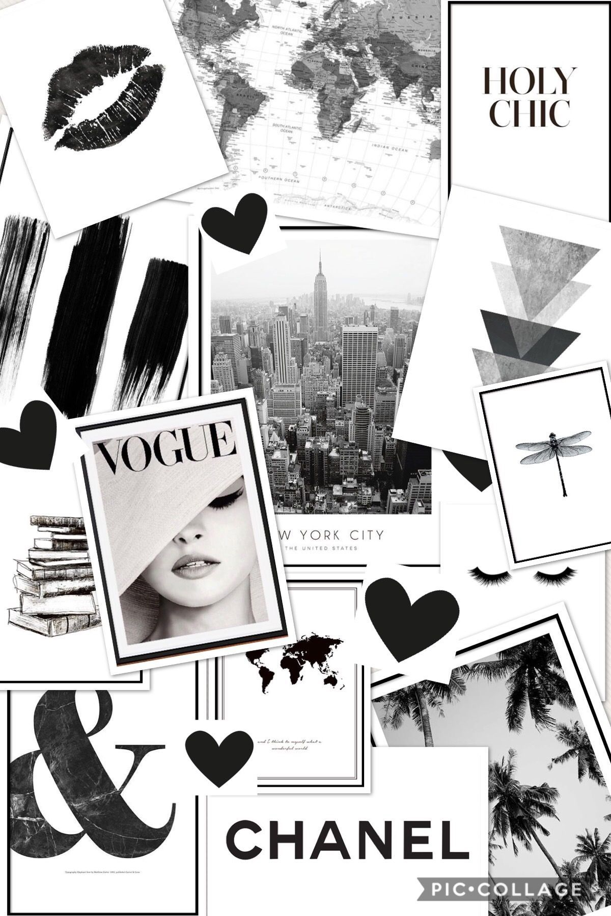 Black And White Collage In 2020 Aesthetic Pastel