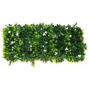 Ejoy Gorgeoushome Artificial Boxwood Hedge Greenery Panels Milan 20 In X 20 In 6 Piece Milan 6pc The In 2020 Artificial Grass Wall Rose Leaves Artificial Foliage