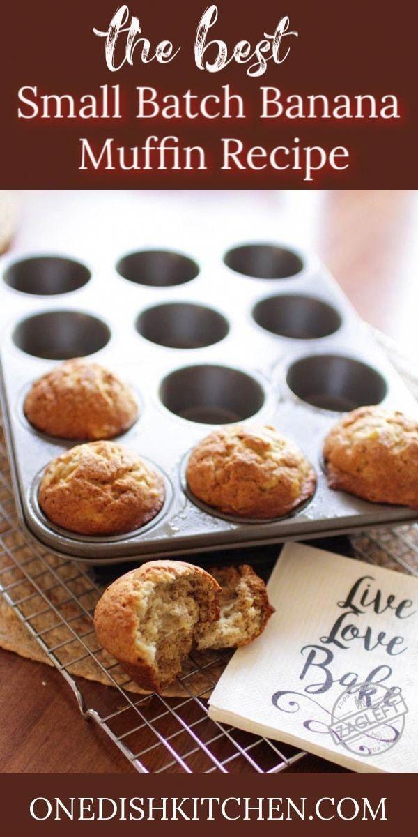 Banana Muffins Recipe  Small Batch  One Dish Kitchen Best Banana Muffins Recipe  Small Batch  One Dish Kitchen