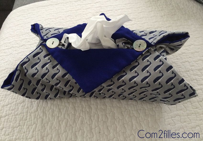 DIY couture : housse pour boite à mouchoirs | Crafty stuff