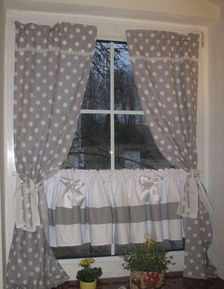Závěsypuntíkaté 138 x 44 | Tende per finestra, Tende da ...