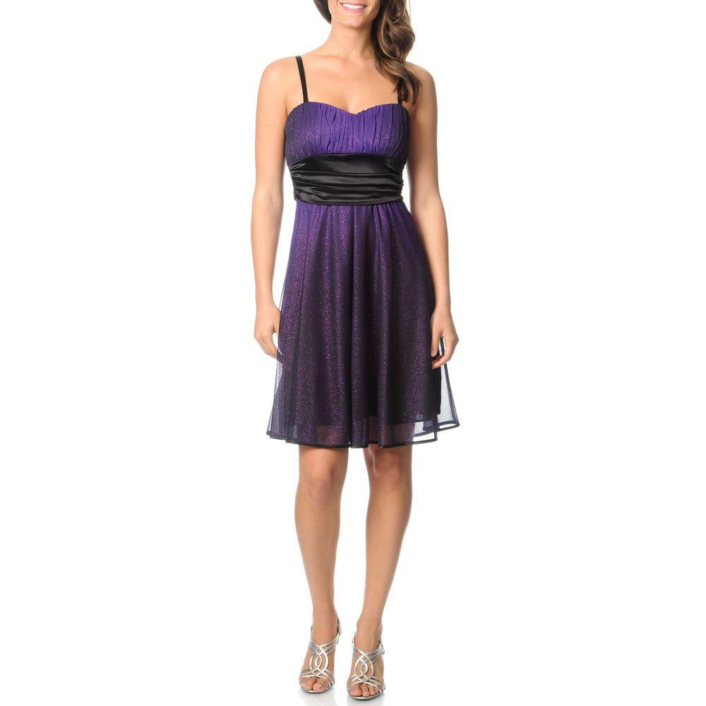 R u m richards womenus purple black ombre cocktail dress