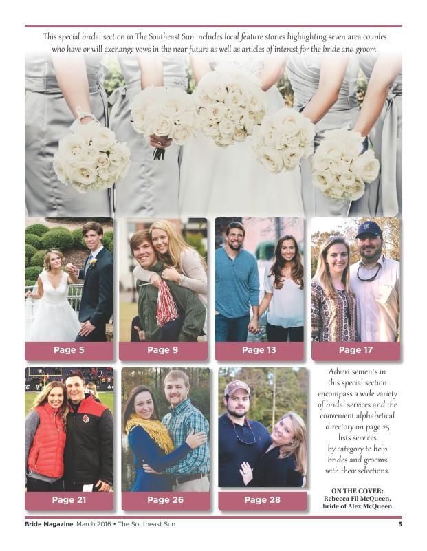 Bride 16 - layout - Page A3 - The Southeast Sun: Eedition