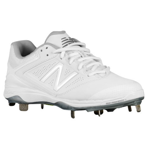 New Balance 4040v1 Metal Low Active Metal Cleats Shoes White Softball Shoes Softball Cleats White Nikes