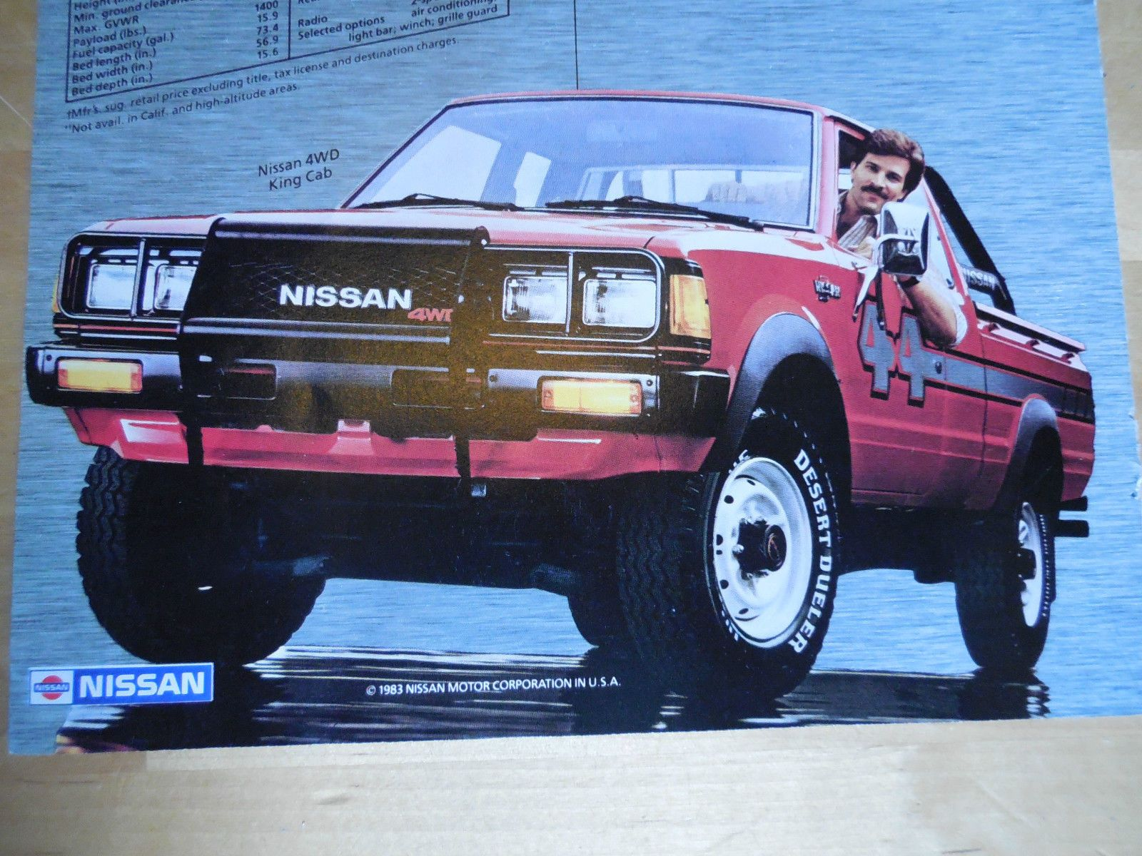 vintage nissan truck ad from 1983 nissan datsun dealer truck ad 83