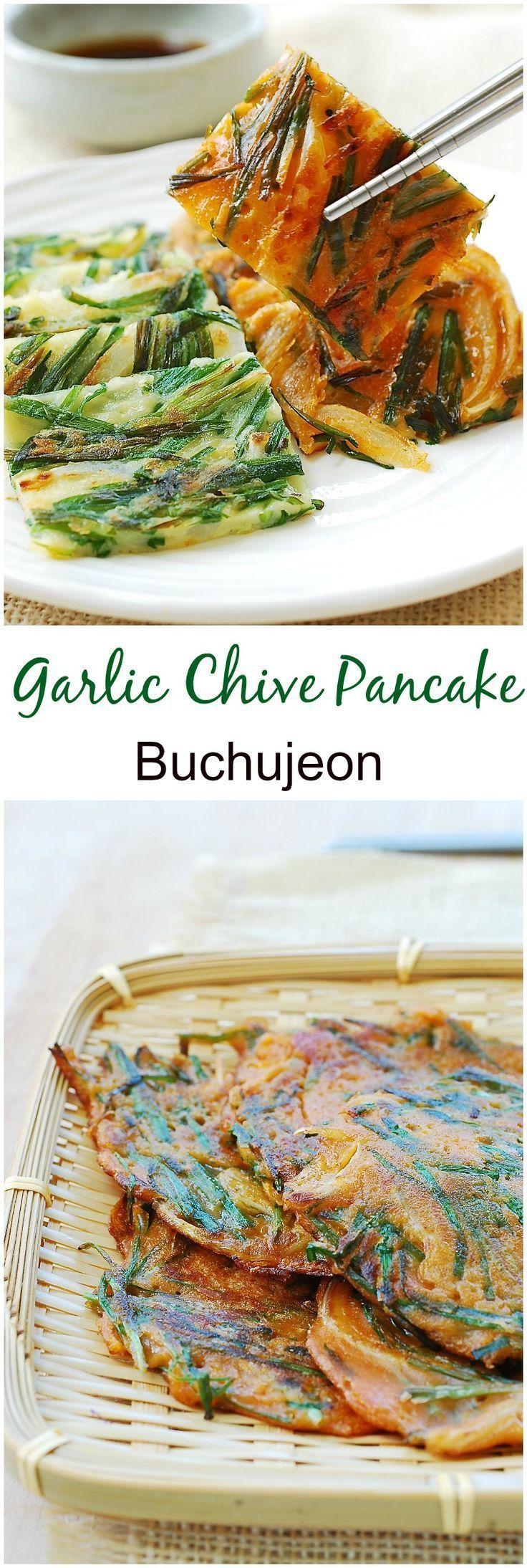 Buchujeon (Korean Pancakes Made with Garlic Chives)
