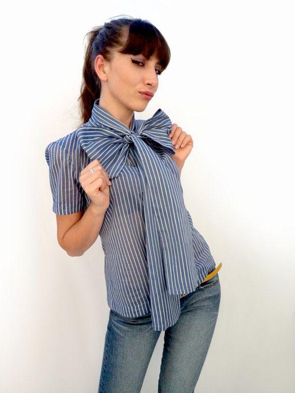 df119b9ea6 Big bow blouse by bibatron on Etsy