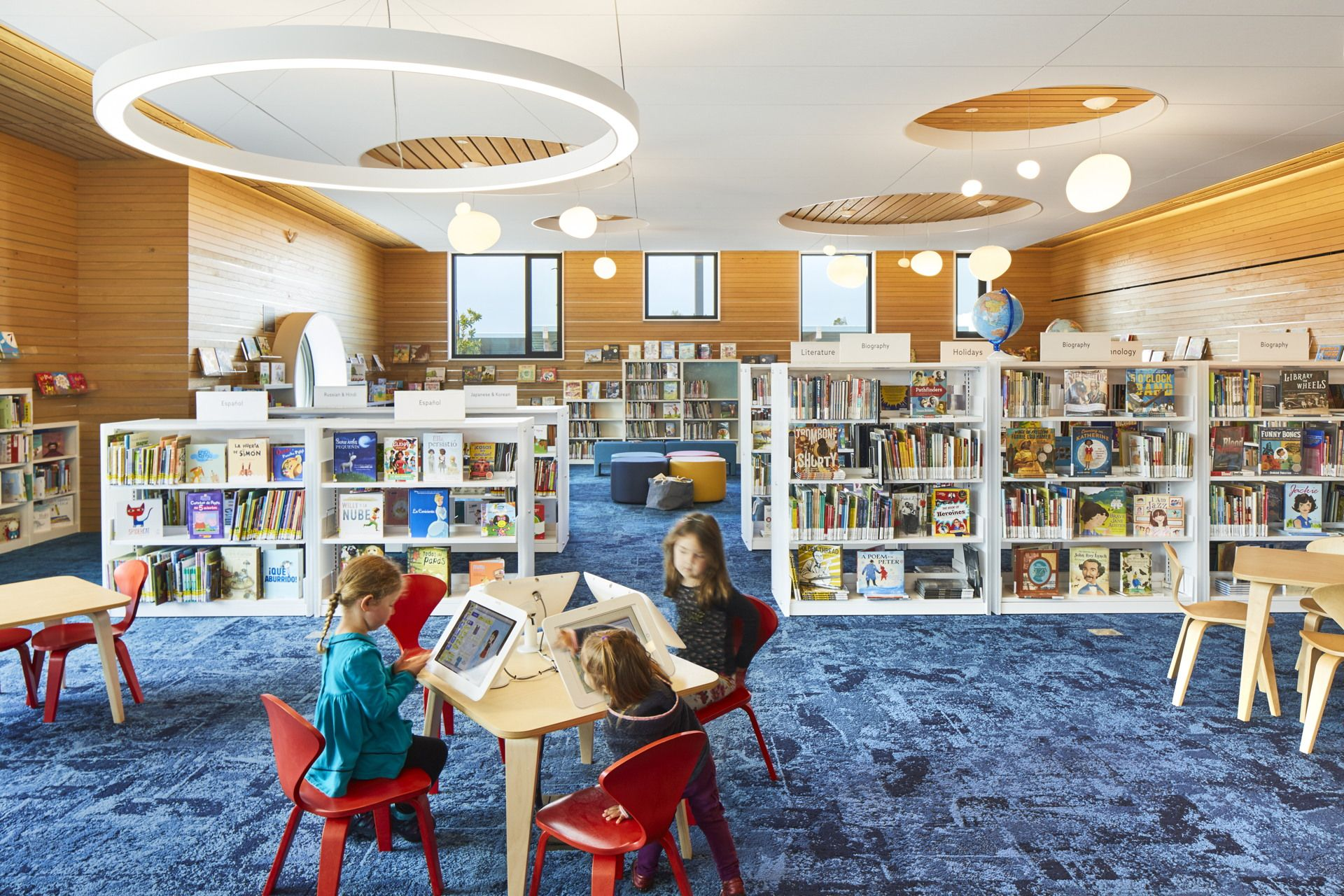 The Multiawardwinning Half Moon Bay Library By Noll Tam Architects Livegreenblog Half Moon Bay Interior Architect Library Design