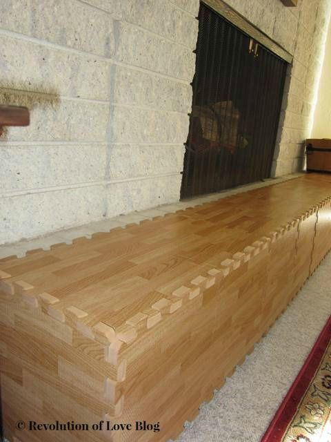 Babyproofing A Brick Fireplace With Wood Foam Mats