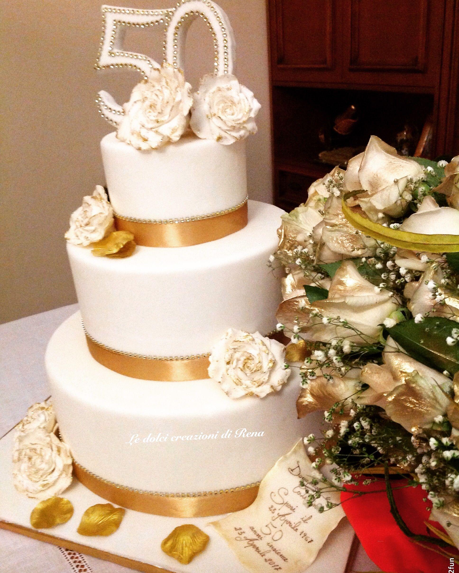 Wedding Cake Torta 50 Anni Di Matrimonio Torta