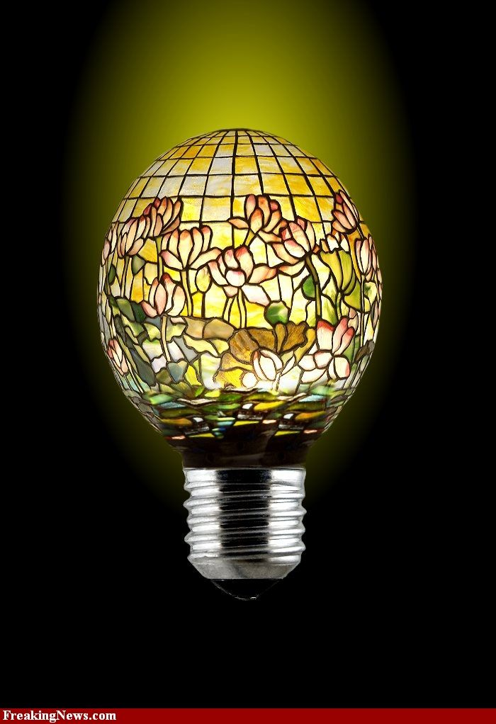 Stained Glass Lightbulb With Images Stained Glass Glass Light Bulb