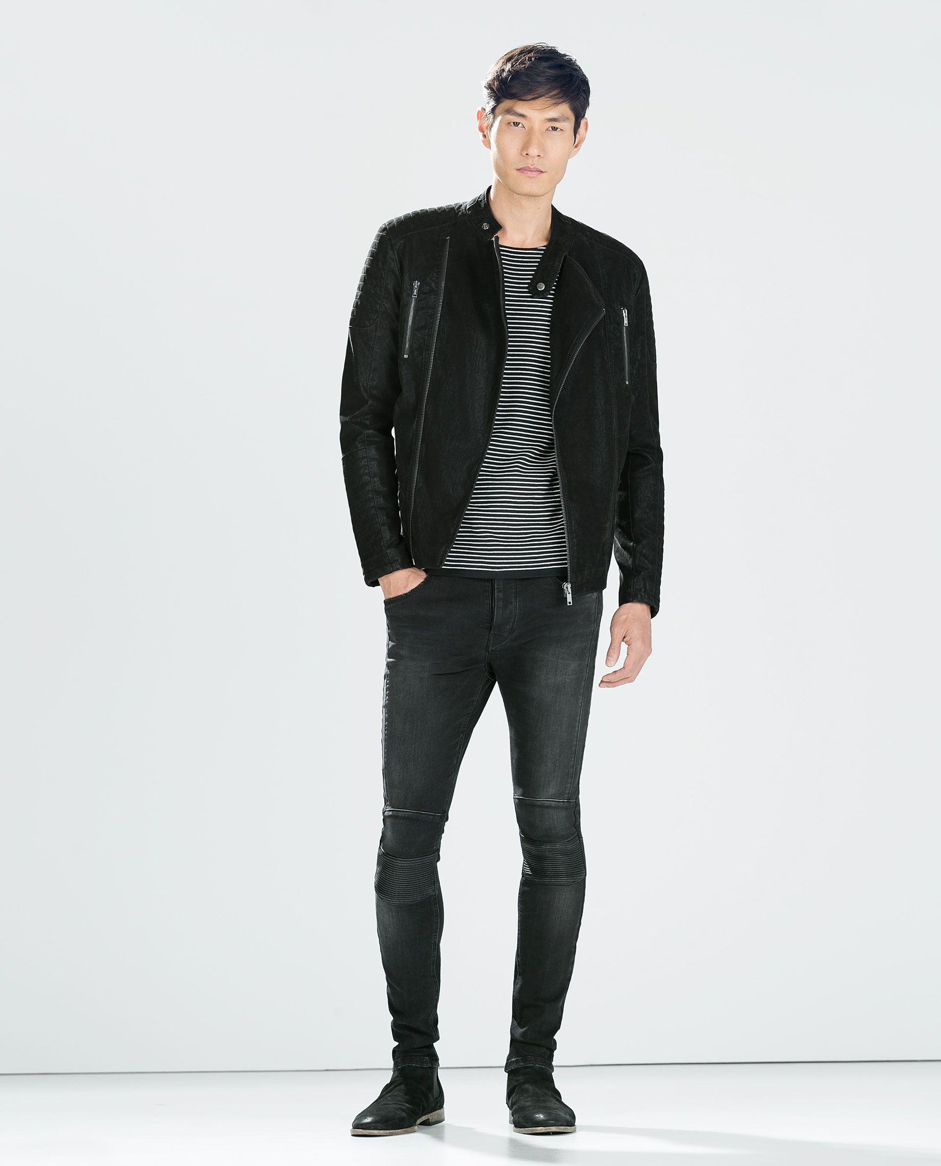 Pantalon Tejano Biker Jeans Hombre Zara Espana Biker Outfit Korean Fashion Men Biker Jeans