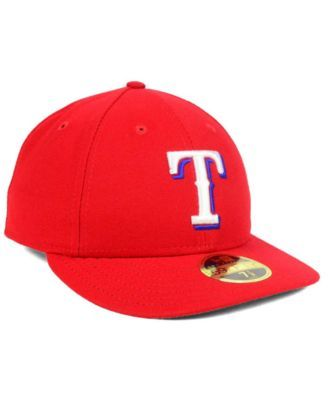 8e571f9986ead2 ... low cost new era texas rangers low profile ac performance 59fifty cap  red 7 3 4