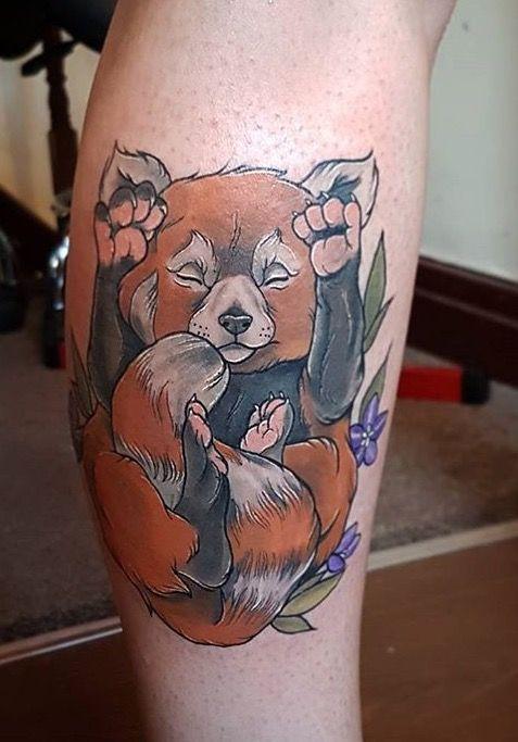 Aimee Bray red panda tattoo