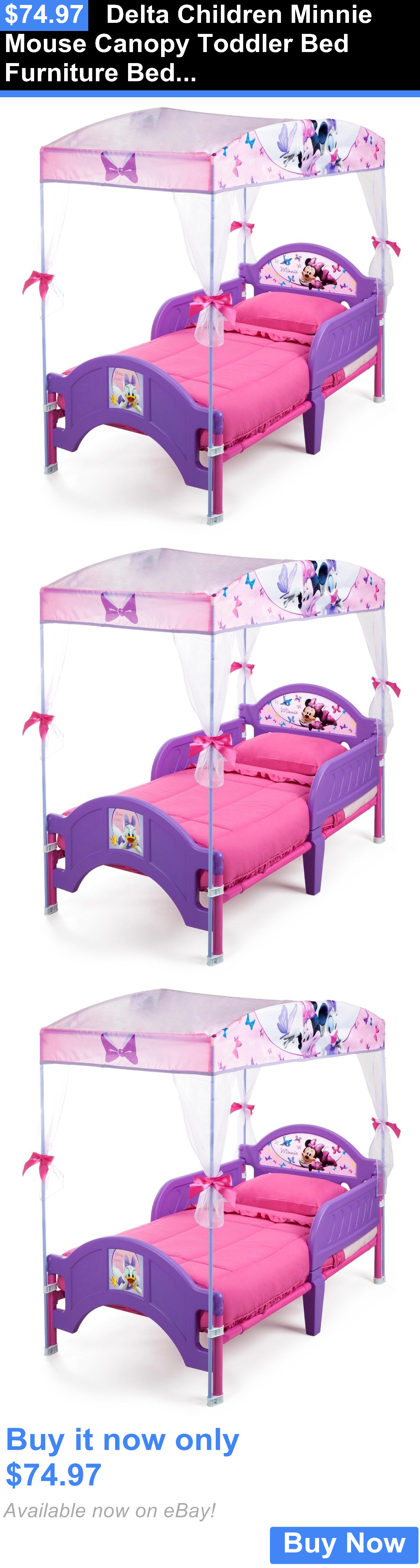 - Kids Furniture: Delta Children Minnie Mouse Canopy Toddler Bed