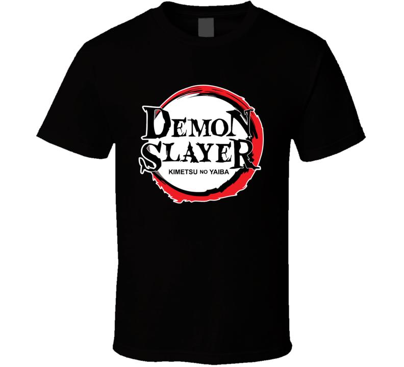 Demon Slayer Kimetsu No Yaiba Anime Logo T Shirt In 2020 Tshirt Logo Demon Slayer