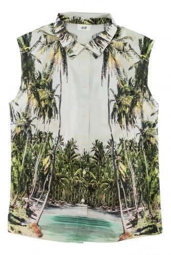 from H & M...I'm not sure if it's in the states, yet, or still in stock - I love a bit of whimsy - and this takes me back to tacky tourist shirts.  Classic.