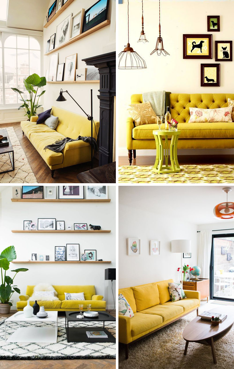 24 Colorful Couches That Make A Statement Www Thegroupinc Com Zheltye Gostinye Dom Gostinaya #yellow #couch #living #room #ideas