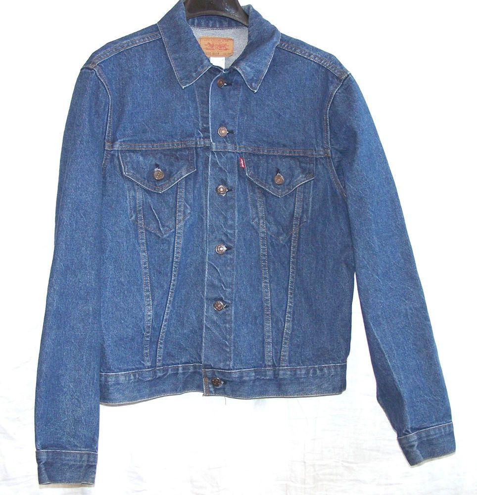 Vintage Levis Denim Jean Jacket Size 44 L, 712050217
